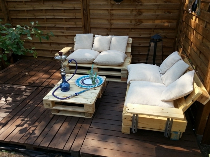 DIY έπιπλα εξωτερικού χώρου από παλέτες65