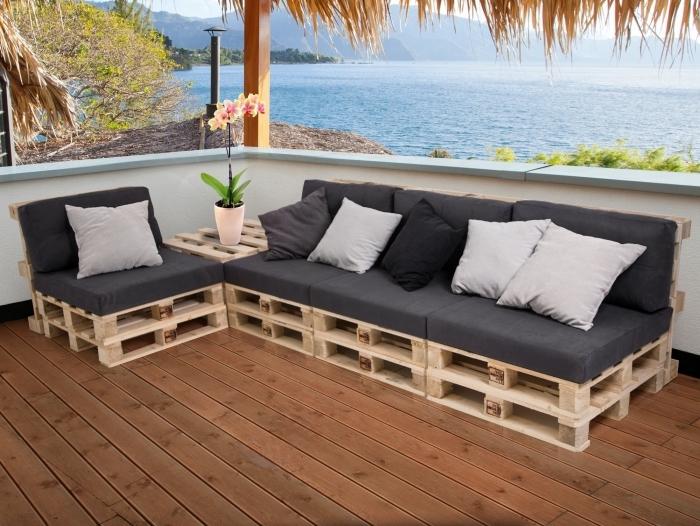 Paletten Couch Terrific Ideen Oben Paletten Couch PALETTI Sofalandschaft I Sofa aus Paletten Fichte massiv Fichte natur