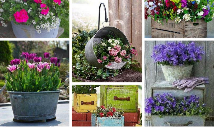 16 Υπέροχες ιδέες με vintage γλάστρες, αλλά και τα οφέλη των λουλουδιών στην καθημερινή ζωή