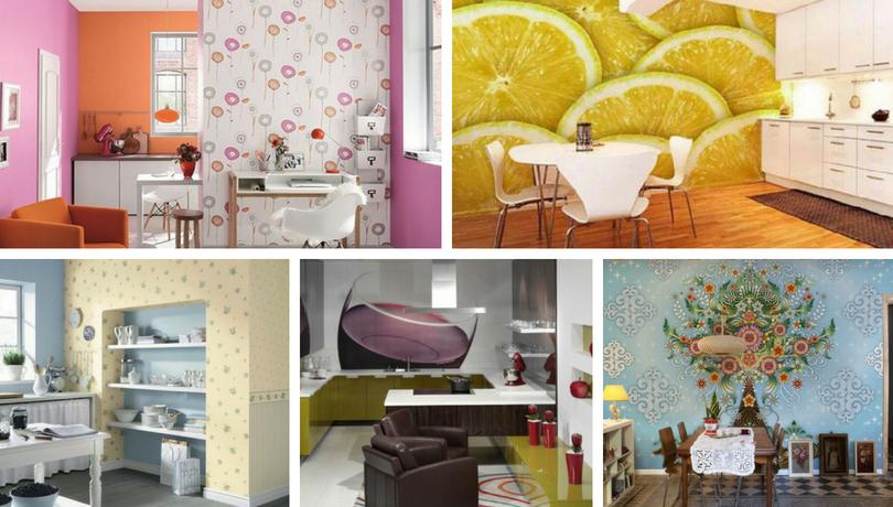 Ταπετσαρία στην κουζίνα - 64 σούπερ μοντέρνες ιδέες για τέλειο σχεδιασμό