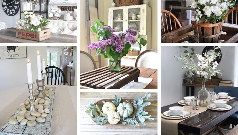 Όμορφη χωριάτικη διακόσμηση για το κεντρικό τραπέζι που μπορείτε να κάνετε μόνοι σας