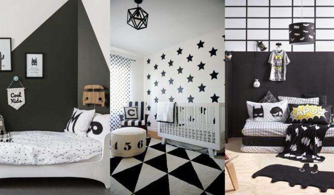 d9157cfde64 Απίθανα και ιδιαίτερα παιδικά δωμάτια σε μαύρο και άσπρο
