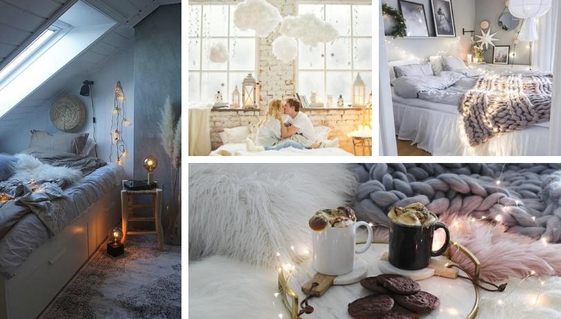 Επιλέξτε ένα cocooning ντεκόρ κρεβατιού και περάστε ένα υπέροχο ζεστό χειμώνα