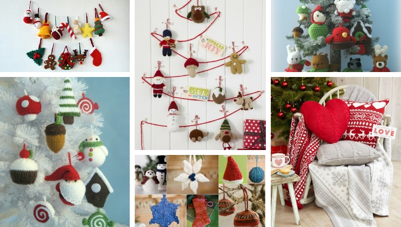 Πλεχτά μάλλινα Χριστουγεννιάτικα στολίδια που θα διακοσμήσουν μαγικά το σπίτι σας