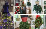 Κάντε έναΧριστουγεννιάτικο δέντρο φόρεμα: Οδηγίες για μια δημιουργική εναλλακτική λύση στο Χριστουγεννιάτικο δέντρο