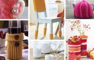 DIY Πλεκτές ιδέες διακόσμησης για το σπίτι σας: ζεστές ιδέες με καλύμματα και άνετα μικρά αξεσουάρ