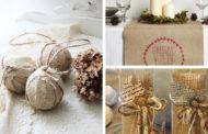 DIY ιδέες Χριστουγεννιάτικης διακόσμησης με λινάτσα που θα σας καταπλήξει