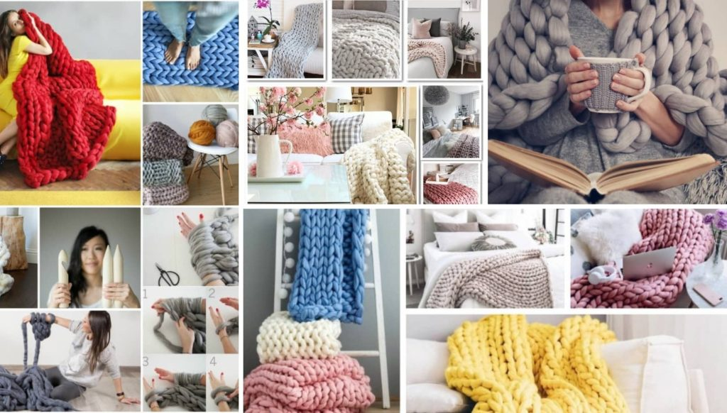 Deco trend: 5 Εύκολα μαθήματα για να κάνετε μια μοδάτη κουβέρτα με χονδρή πλέξη (βίντεο)