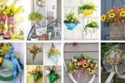 Εμπνευσμένες DIY ιδέες για να φρεσκάρετε εξωτερικά την είσοδο σας για την άνοιξη
