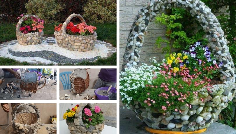 Πως να κάνετε μια απίθανη Diy πέτρινη γλάστρα - ένα θεαματικό παρτεράκι λουλουδιών στον κήπο σας