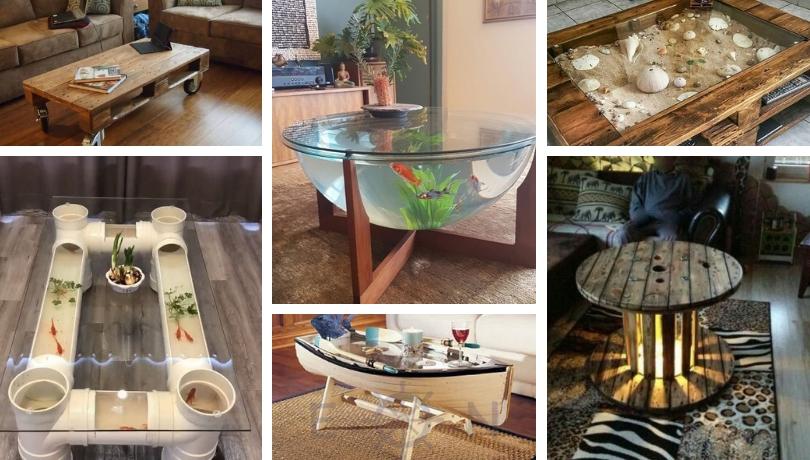 Τα πιο ασυνήθιστα DIY τραπεζάκια του καφέ που μπορείτε να κάνετε μόνοι σας