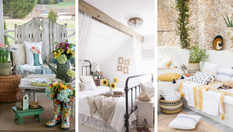 20 καταπληκτικές ιδέες εσωτερικής διακόσμησης για να φέρετε μια χωριάτικη καλοκαιρινή αύρα στο σπίτι σας