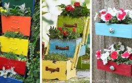 Ασυνήθιστες αλλά πανέμορφες DIY διακοσμήσεις κήπου από παλιά συρτάρια
