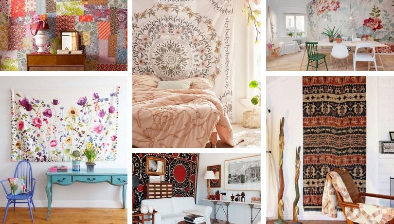 Εξαιρετικές DIY ιδέες για να διακοσμήσετε τοίχους με υφάσματα