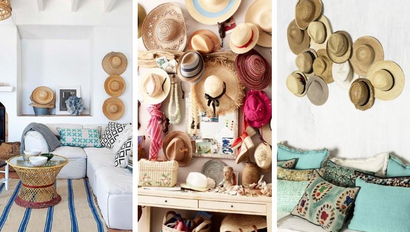 Διακοσμήστε τους τοίχους σας με καπέλα - Δροσερή DIY καλοκαιρινή πρόταση διακόσμησης