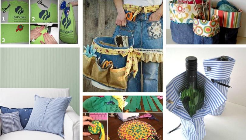 DIY ιδέες για κατασκευές και διακοσμήσεις από παλιά ρούχα