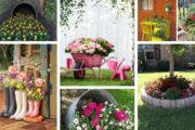 Καταπληκτικές DIY συνθέσεις λουλουδιών για μια απίθανη αυλή ή κήπο