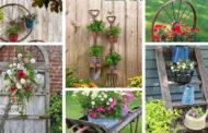 Υπέροχες DIY ιδέες για Vintage διακόσμηση κήπου με παλιά πράγματα