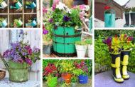 36 DIY ιδέες για πρωτότυπες γλάστρες κήπου