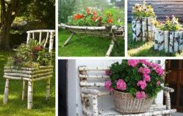 Κομμάτια κλαδιών ξύλου μεταμορφώνονται σε εκπληκτική DIY διακόσμηση για τον κήπο