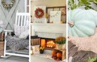 34 Εμπνευσμένες DIY ρουστίκ χωριάτικες ιδέες διακόσμησης για το Φθινόπωρο