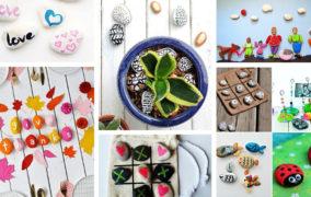 Έξυπνες δραστηριότητες και DIY δημιουργίες με βαμμένα βότσαλα