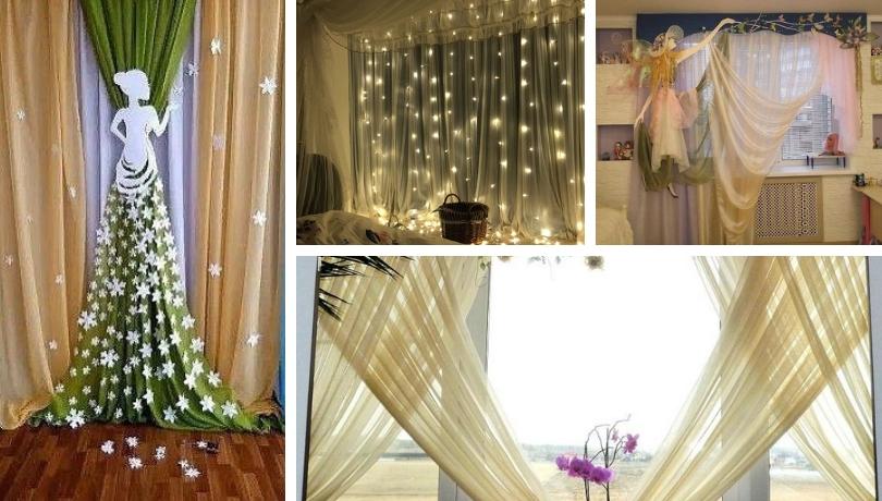 Οι πιο απίθανες DIY ιδέες για εορταστική διακόσμηση κουρτινών