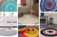 DIY πλεκτά στρογγυλά χαλιά: +52 πανέμορφα μοντέλα για το σπίτι σας