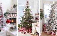 25 Φωτεινές και μοδάτες κόκκινο με λευκό ιδέες Χριστουγεννιάτικης διακόσμησης