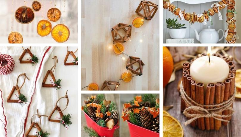 Χριστουγεννιάτικα DIY διακοσμητικά με  άρωμα από πορτοκάλια και κανέλα