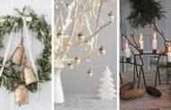 Φέρτε το ρομαντικό και άνετο στυλ  του σαλέ στο σαλόνι σας με DIY μοντέρνα ή ρουστίκ χριστουγεννιάτικα διακοσμητικά