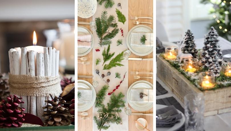 Κεντρικό τραπέζι για τα Χριστούγεννα - 48 φανταστικές ιδέες διακόσμησης για να ενισχύσετε το εορταστικό δείπνο