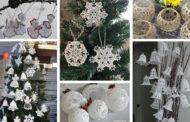 DIY Χριστουγεννιάτικα στολίδια από δαντέλα για μια νοσταλγική νότα στην διακόσμηση του σπιτιού σας