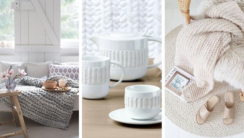 Σκανδιναβική χειμερινή τάση: πλεκτές υφές για οικιακή διακόσμηση