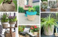 Απίστευτες ιδέες με DIY γλάστρες από σχοινί για το σπίτι και τον κήπο σας