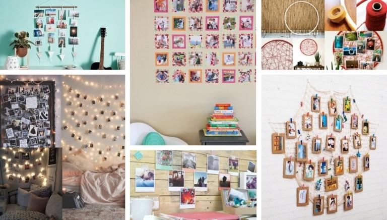 Μοντέρνες DIY ιδέες με κρεμασμένες φωτογραφίες: Πολλές δημιουργικές ιδέες σχετικά με τον τρόπο δημιουργίας ενός φωτογραφικού τοίχου