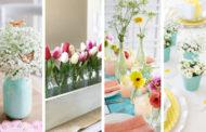 Χαρούμενες ιδέες ανοιξιάτικης διακόσμησης για κεντρικά σημεία του σπιτιού σας