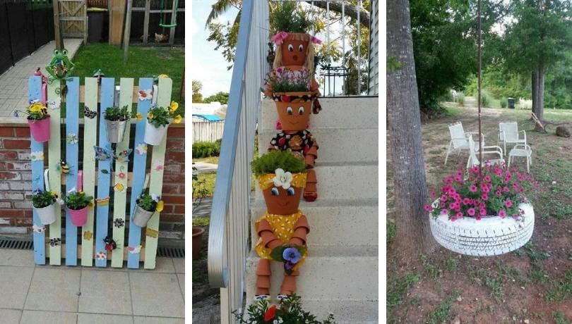 40 Απίθανες δημιουργικές DIY κατασκευές για τον πιο υπέροχο κήπο λουλουδιών