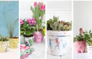 40+ Diy γλάστρες - μια χειρωνακτική φρέσκια δραστηριότητα για να προσκαλέσετε της άνοιξη στο σπίτι σας