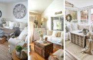 27 Ρουστίκ χωριάτικες ιδέες διακόσμησης σαλονιού για το σπίτι σας