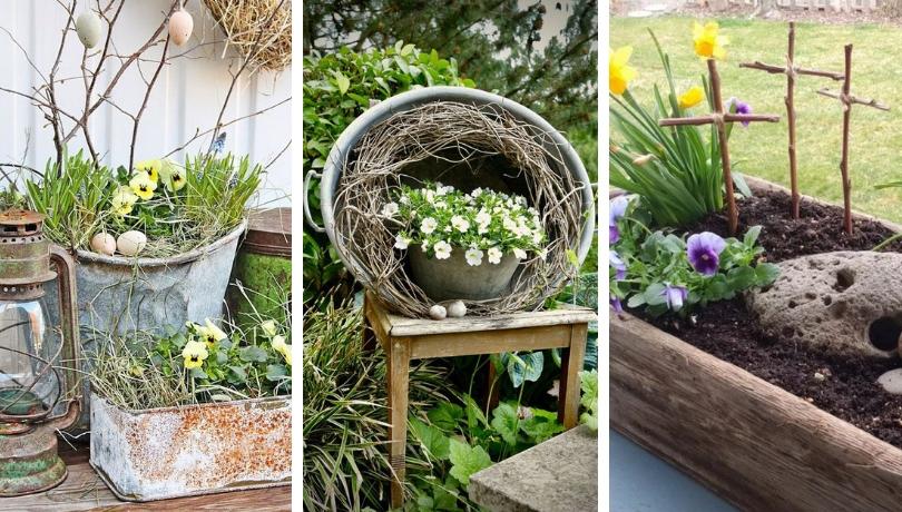 20 Υπέροχες ιδέες με Πασχαλιάτικους, ανοιξιάτικους κήπους για να κάνετε φέτος στο σπίτι σας